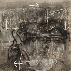 Croix et flèches by Antoni Tàpies contemporary artwork
