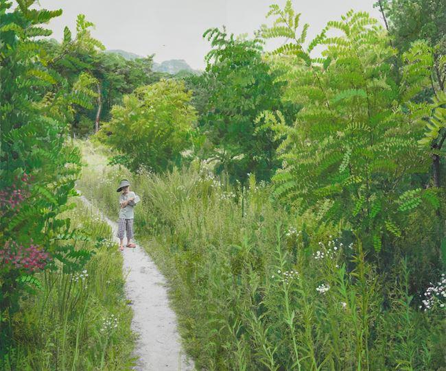 Study of Green-Seoul-Vacant Lot-Imalsan (Mt.) by Honggoo Kang contemporary artwork