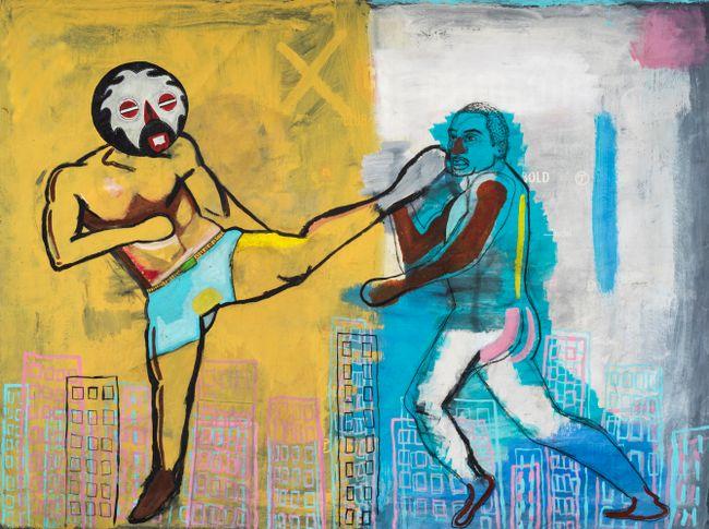 Retribution: Sometimes I kick my own ass by Khaleb Brooks contemporary artwork