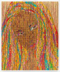 The Virgin without the child by Ghada Amer contemporary artwork painting