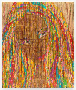 The Virgin without the child by Ghada Amer contemporary artwork