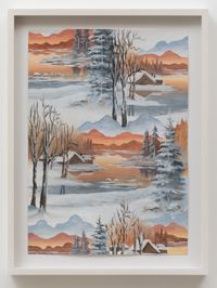 Winter Sun by Neil Raitt contemporary artwork painting, works on paper