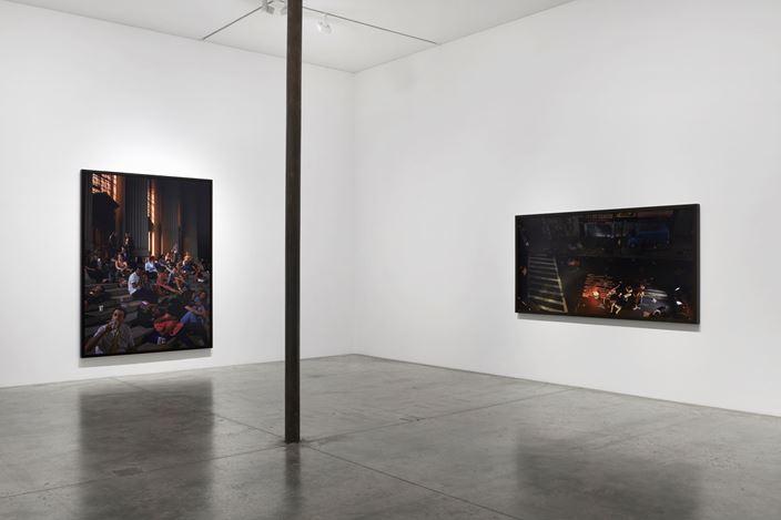 Exhibition view: Stan Douglas, Doppelgänger, Victoria Miro, Wharf Road, London (31 January–14 March 2020). © Stan Douglas. Courtesy the artist, Victoria Miro, and David Zwirner. Photo: Benjamin Westoby.