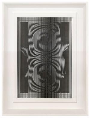 Espansioni-contrazioni in nero by Alberto Biasi contemporary artwork