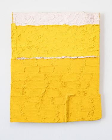 Louise Gresswell, Untitled (Yellow) (2018). Oil on board, 34 x 27 cm. Courtesy Gallery 9, Sydney.