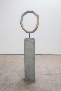 Eye of the Rainbow (pale) by Eva Rothschild contemporary artwork sculpture