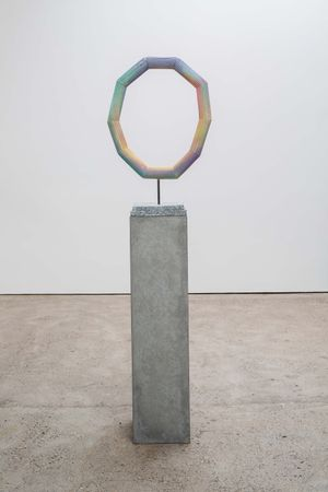 Eye of the Rainbow (pale) by Eva Rothschild contemporary artwork