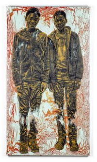 Malik and Marquis by Alfred Conteh contemporary artwork painting, sculpture