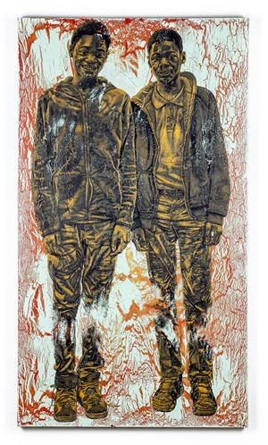 Malik and Marquis by Alfred Conteh contemporary artwork