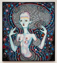 i am going through changes by Del Kathryn Barton contemporary artwork painting