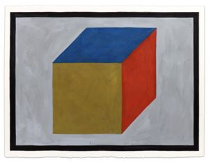 Cube by Sol LeWitt contemporary artwork painting