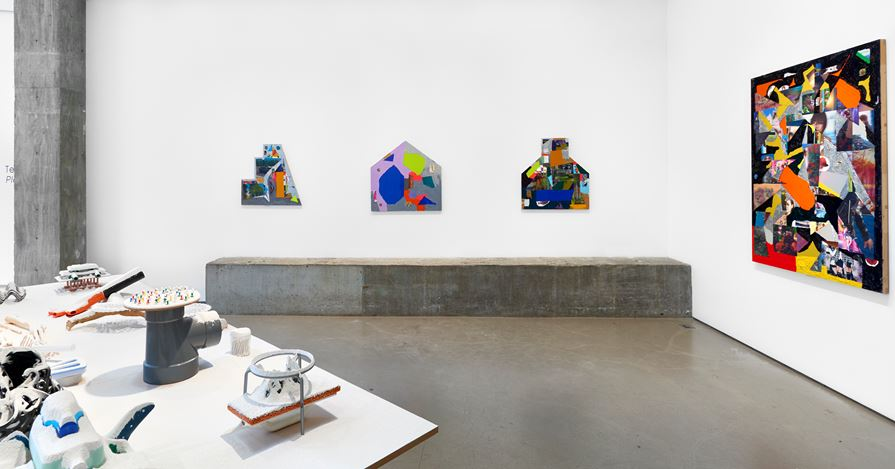 Exhibition view: Teppei Kaneuji, Plastic Barricade, Jane Lombard Gallery, New York(23 May–3 July 2019). Courtesy Jane Lombard Gallery.