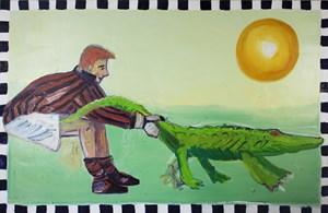 Paradise No. 3 (Crocodile) by Carla Busuttil contemporary artwork