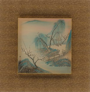 Eight Scenic Views of Yongfu Monastery: Wisteria Under the Moon by Luo Ying contemporary artwork