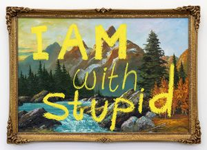 I AM with Stupid by Sanjay Theodore contemporary artwork
