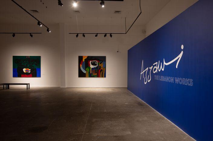 Exhibition view:Dia al-Azzawi, The Lebanon Works, Meem Gallery, Dubai (23 March–12 August 2021). Courtesy Meem Gallery.