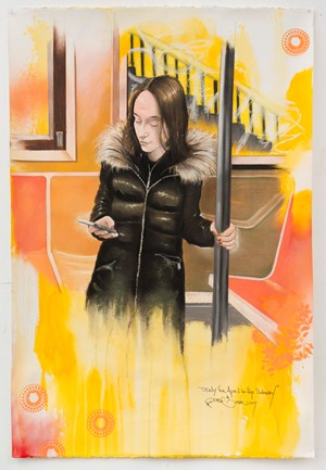 Study for April in the Subway by Chris Daze Ellis contemporary artwork