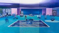 Home Sweet Home: Feng Shui Painting, Water 1 by Mak Ying Tung 2 contemporary artwork painting