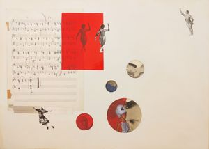 Speak Easy Collage by Marinella Senatore contemporary artwork works on paper, mixed media