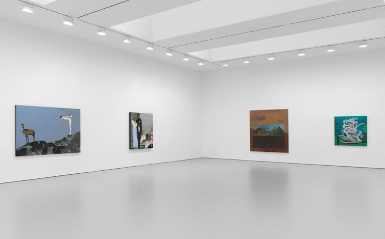 Exhibition view: Noah Davis, David Zwirner, 19th Street, New York (16 January–22 February 2020). Courtesy The Estate of Noah Davis and David Zwirner.