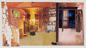 Patty Hearst's Apartment by Dexter Dalwood contemporary artwork