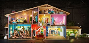 Self-Portrait as a House by David LaChapelle contemporary artwork