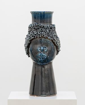 Face Jug (COBALT) by Simone Leigh contemporary artwork