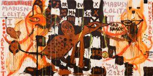 DEIN BIEST SCHNEIT: RADIKALARMÉ! by Jonathan Meese contemporary artwork