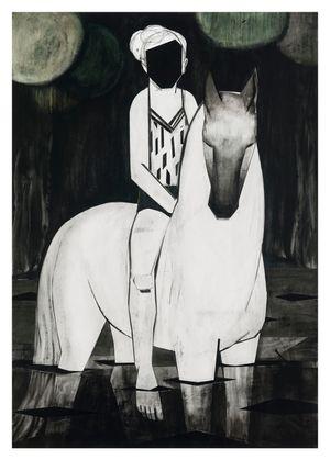 Nightswimmer by Iris Schomaker contemporary artwork