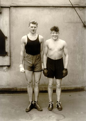 Boxers by August Sander contemporary artwork