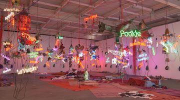 Contemporary art exhibition, Jason Rhoades, Tijuanatanjierchandelier at David Zwirner, 19th Street, New York