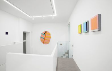 Exhibition view:Imi Knoebel,Painting Color Space, Dep Art Gallery, Milan (7 October 2021–15 January 2022). Courtesy Dep Art Gallery.