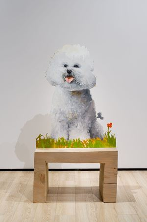 Bichon minimal et joyeux by Tursic & Mille contemporary artwork