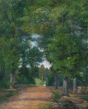 Paysage de forêt à Vigouroux by ALBERT DUBOIS-PILLET contemporary artwork