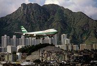 'Lions Rock, Cathay Pacific Jet and Kowloon Walled City', Hong Kong by Greg Girard contemporary artwork photography, print