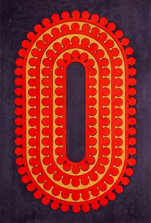 Code 30 by Lubna Chowdhary contemporary artwork painting, works on paper, drawing