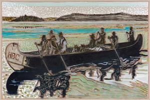 Hudson Bay Fur Packers Version by Billy Childish contemporary artwork