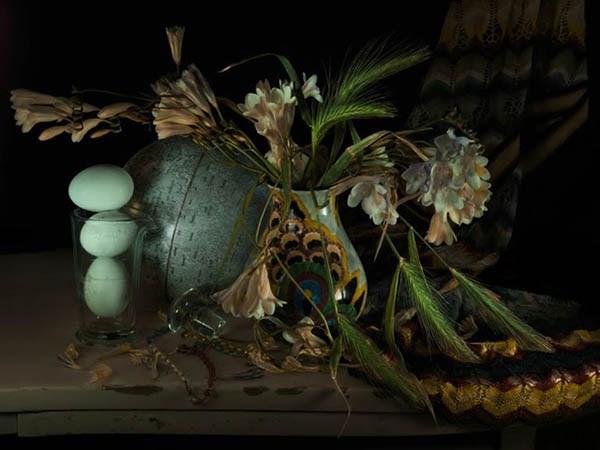 Still Life with Wild Wheat and Freesias by Fiona Pardington contemporary artwork