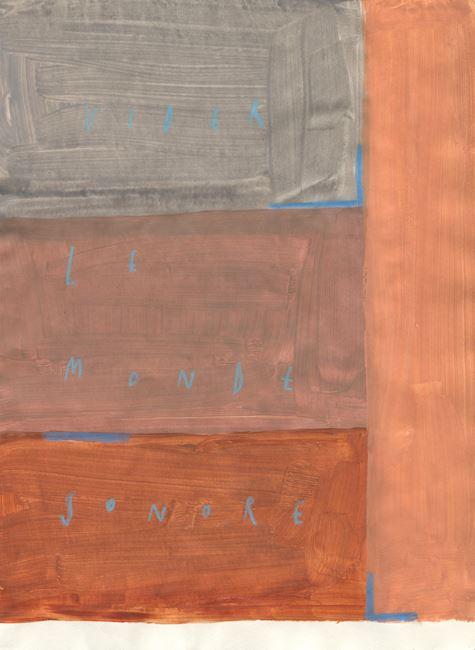vider le monde sonore by Arpaïs Du Bois contemporary artwork