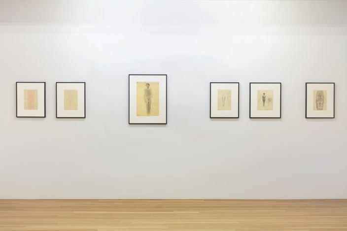 Exhibition view: Otto Meyer-Amden,Vorbereitung,Galerie Buchholz, New York (26 September–2 November 2019). Courtesy Galerie Buchholz Berlin/Cologne/New York.