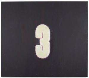 Numbers (Three) by Luc Tuymans contemporary artwork