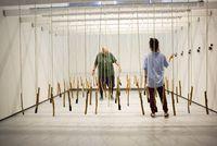 Pendulum Piano by Phoebe Hui contemporary artwork mixed media