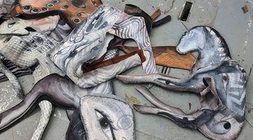 Contemporary art exhibition, Cathie Pilkington, Estin Thalassa at Karsten Schubert London
