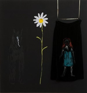 Old Mare, daisy and a bit of skirt by Jenny Watson contemporary artwork