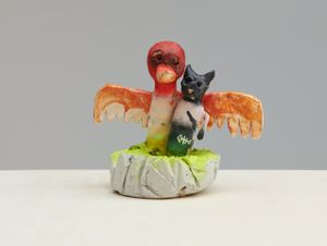 Cat Duck by Jenny Brosinski contemporary artwork
