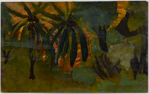 Untitled (Coconut palms in nature) by Frank Walter contemporary artwork
