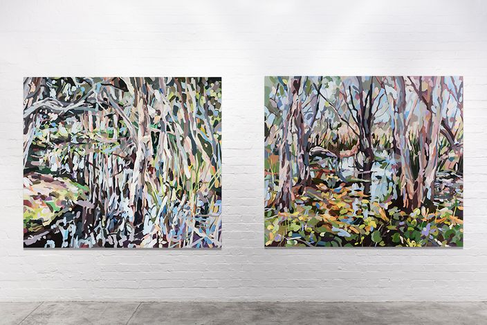 Exhibition view: Oliver Watts, Sweet is the Swamp, THIS IS NO FANTASY dianne tanzer + nicola stein, Melbourne (21 July–7 August 2021). Courtesy THIS IS NO FANTASY dianne tanzer + nicola stein.