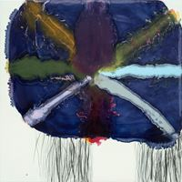 Neck Threads (Rugged) by Marie Le Lievre contemporary artwork painting, works on paper, drawing