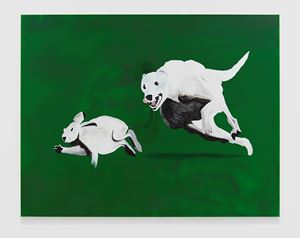 Dog and Rabbit by Calvin Marcus contemporary artwork
