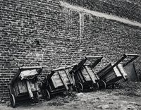 The carts of the paper-and-bottle pickers, Doornfontein, April 1974 (4_2229) by David Goldblatt contemporary artwork painting, photography